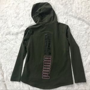 🏃🏾‍♀️Puma Army Green Graphic Zip Up Hoodie